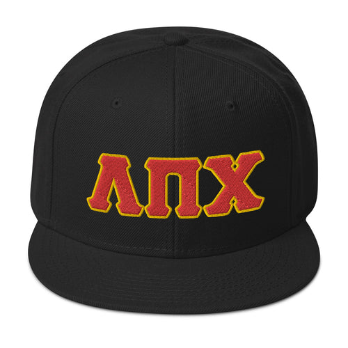 Lambda Pi Chi Embroidered Snapback Hat