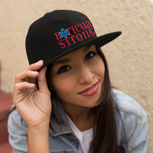 Boricua Strong Embroidered Hat