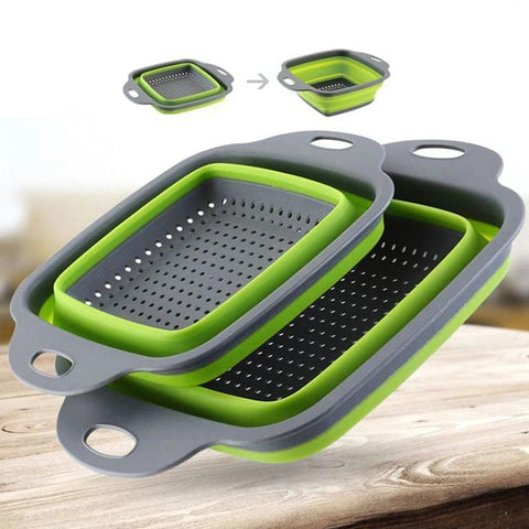 Foldable Silicone Fruit/Vegetable Washing Basket/Strainer - Casa Dome