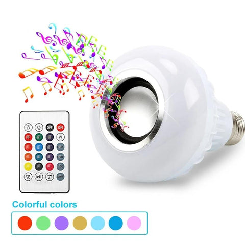 Smart LED Light + 12W Bluetooth Speaker with 24 Keys Remote Control - Casa Dome