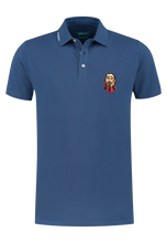 Load image into Gallery viewer, Blue cotton polo District Indigo - 7.11.401.400