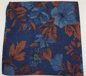 Blue pocket square with flowers Profuomo - PPQN30008D
