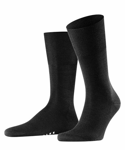 Black merino-cotton socks Falke Airport - 14435
