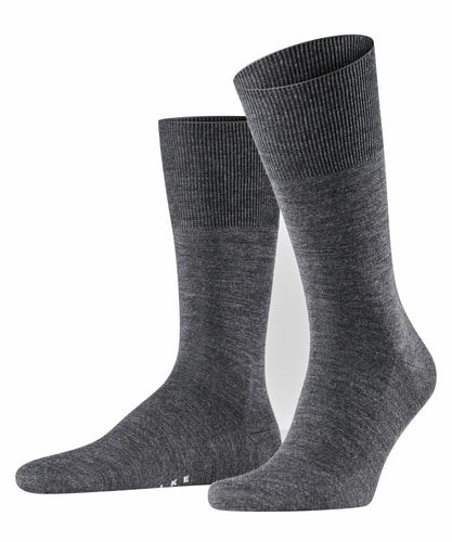 Dark grey merino-cotton socks Falke Airport - 14435