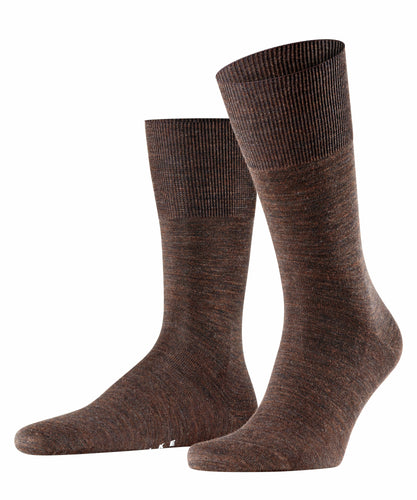 Dark brown merino-cotton socks Falke Airport - 14435