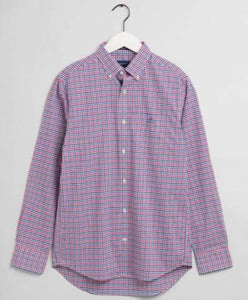 Beige checkered cotton shirt Gant - 3060400