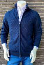 Load image into Gallery viewer, Navy cotton zip cardigan Gant - 8030088