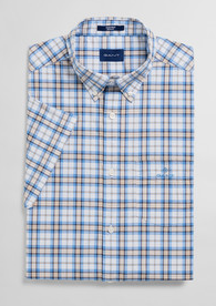 Beige checkered short sleeve shirt Gant - 3023731