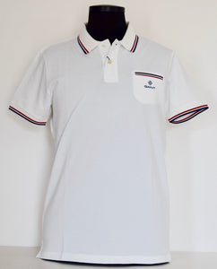 Off white cotton polo Gant - 2022002