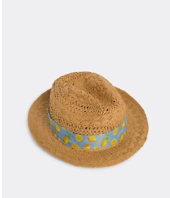 Beige panama hat with lemons Hacket - HM042247