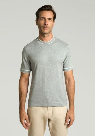 Grey cotton-silk T-shirt Hackett - HM702664