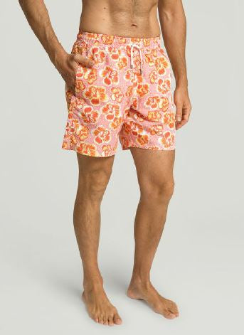 Coral swimshorts with flowers Hackett - HM801137
