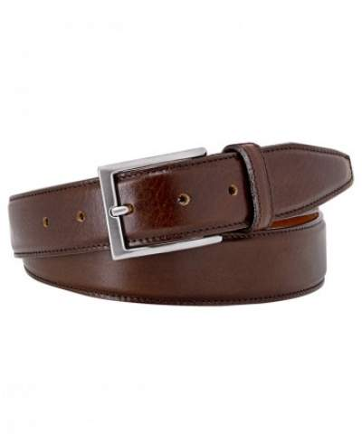 Brown calf leather belt Profuomo