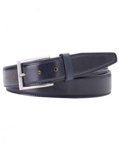 Navy calf leather belt Profuomo