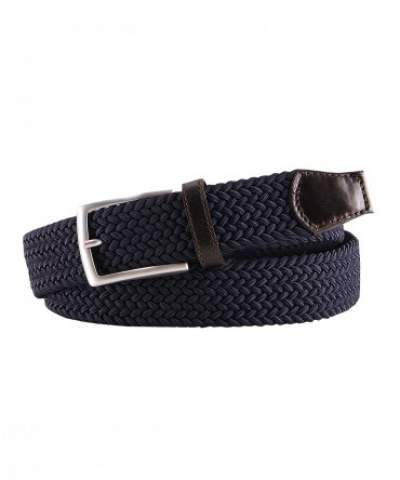 Navy woven elasticated belt Profuomo