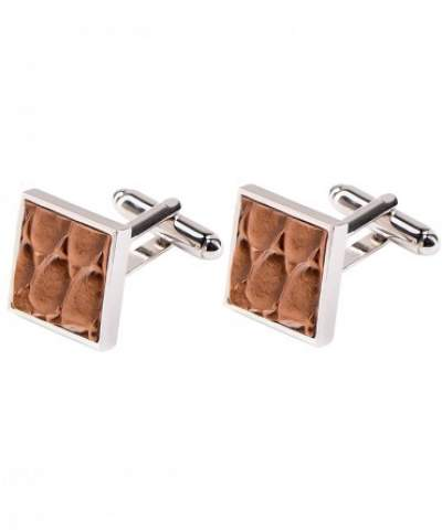 Leather cufflinks Profuomo - PP3MAE313A
