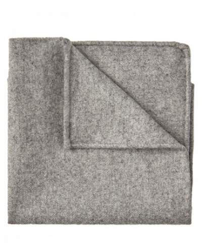 Grey mélange wool pocket square Profuomo