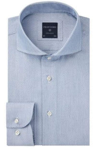 Blue cotton shirt with little print Profuomo - PPRH3A1012