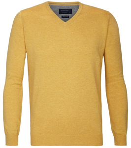 Yellow cotton pullover Profuomo -PP0J000120-22
