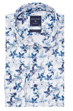 Load image into Gallery viewer, Blue shirt with flowers Profuomo - PPRH1A1094