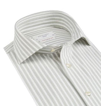 Load image into Gallery viewer, Light green striped hyperstretch slim fit shirt Profuomo - PPSH1C1054