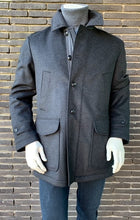 Load image into Gallery viewer, Navy woolen parka Schneiders - 219 1380