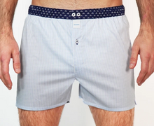 Load image into Gallery viewer, Blue checkered boxershort Sixtine's - Myriam