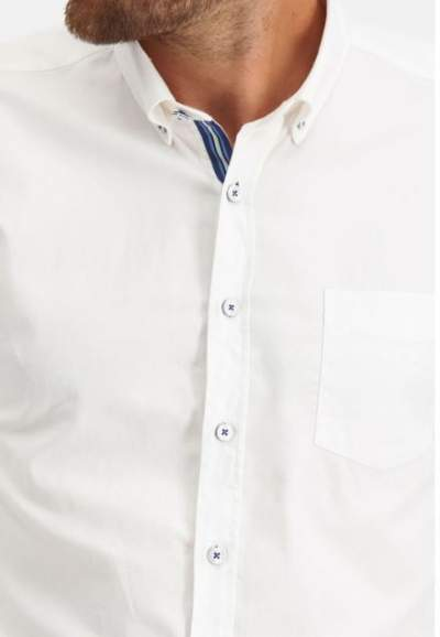 White cotton shirt State of Art - 20223