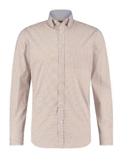 Brown cotton shirt with dots State of Art - 20339