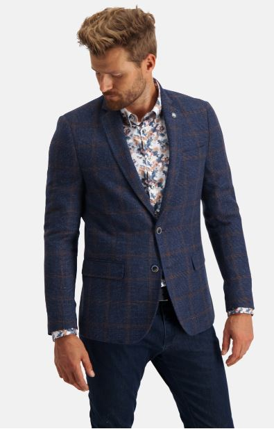 Blue checkered jacket State of Art