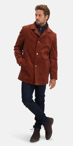 Rust corduroy half long jacket State of Art - 20623