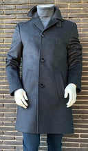 Load image into Gallery viewer, Dark grey woolen coat Tommy Hilfiger -TT0TT08120