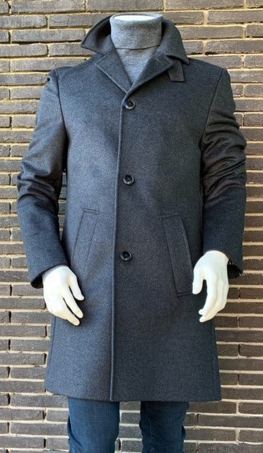 Dark grey woolen coat Tommy Hilfiger -TT0TT08120