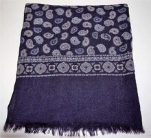 Load image into Gallery viewer, Paisley Navy Scarf Van Gils
