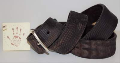 Brown leather belt Profuomo - PP3R000020