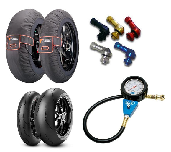Tyres, Warmers, Gauges, and Accessories