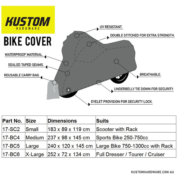 Kustom Hardware Bike Cover