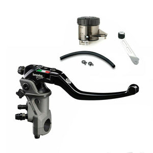 Brembo 17RCS Corsa Corta Radial Brake Master Cylinder (110C74040) and Light Smoke Reservoir Kit (110A26385-Smoke)