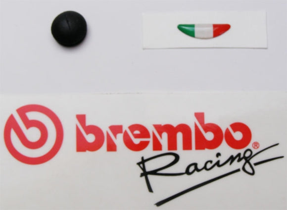 Brembo Replacement Sticker and Cap for Brembo RCS Master Cylinder (110A26389-1)