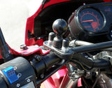 "RAM Handlebar Mount with Zinc Coated U-Bolt & 1"" Ball for Rails 0.5"" to 1.25"" Diameter (RAM-B-231ZU)"