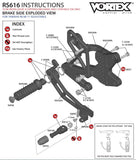 Vortex Rearset Replacement Parts
