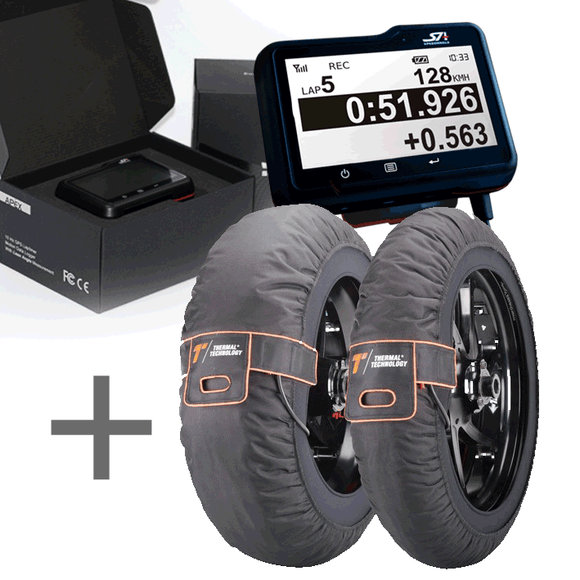 SpeedAngle Apex GPS Lap Timer + Thermal Technology Pro Tyre Warmers (Free Delivery)