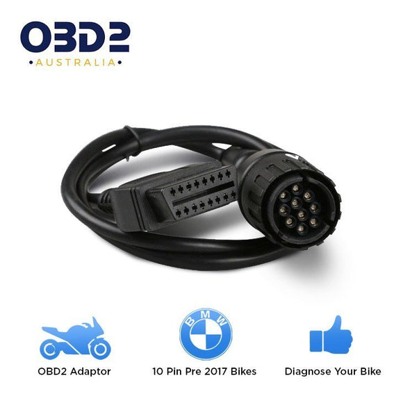 OBD2 CABLE BMW MOTORCYCLES – 10 PIN TO 16 PIN (OBD2BMWCABLE)