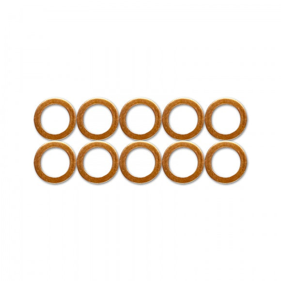 "HEL Copper Crush Washers - 10mm, 3/8"", 1/8"" (10 Pack)"