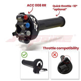 Jetprime Throttle Twist Grip With Integrated Controls for BMW S1000RR STREET (JPACC008RR) - Free Delivery