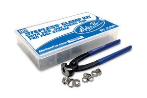 MotioPro Stepless Clamp Fuel Line Fittings Kit including Pincer Tool (12-0083)