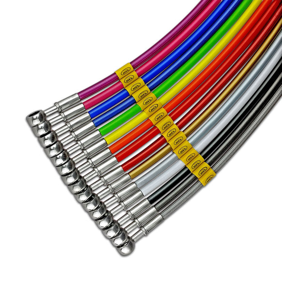 HEL Stainless Braided Brake Line (Single Rear Line)