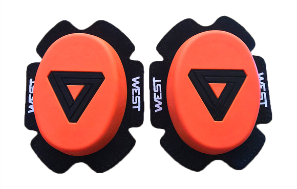West Knee Sliders - Neon Orange