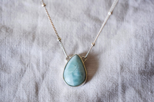 necklace larimar gemstone