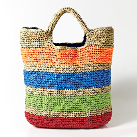 wazin - Crochet Colorful Summer Beach Bags -